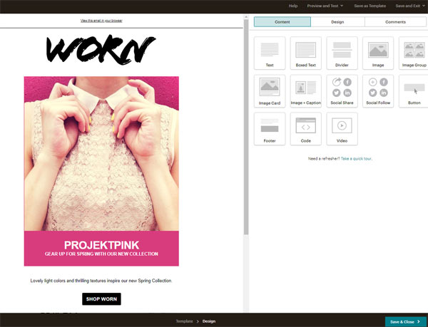 mailchimp email editor responsive