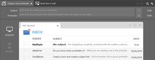 mailstyler subject preheader preview
