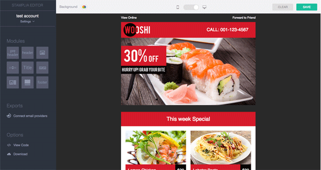 stampalia email template designer
