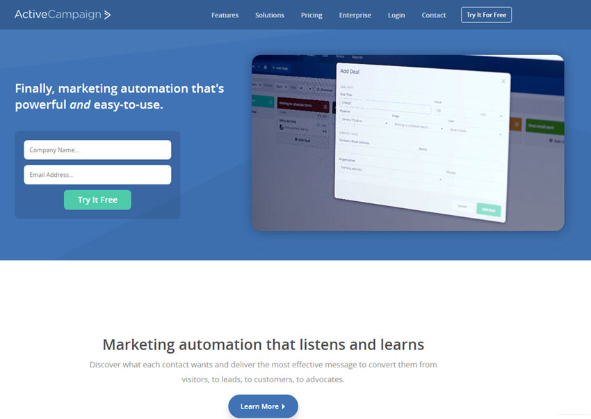 ActiveCampaign, info and compare this Email marketing software