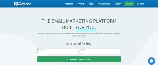 aweber email blast tool