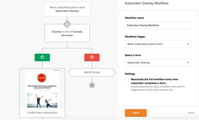 MailerLite email Automation Workflow Builder
