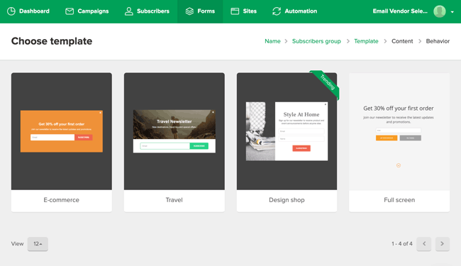 MailerLite reviews form builder templates