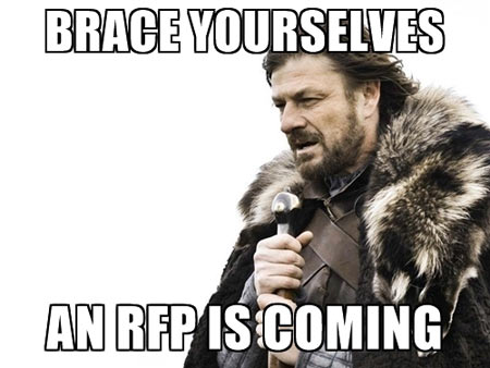 brace yourselves an rfp is coming