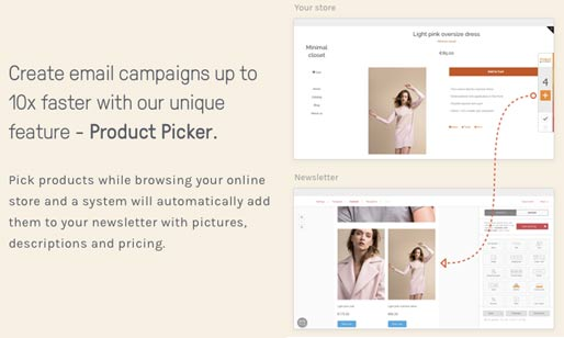 ecommerce email marketing product selection