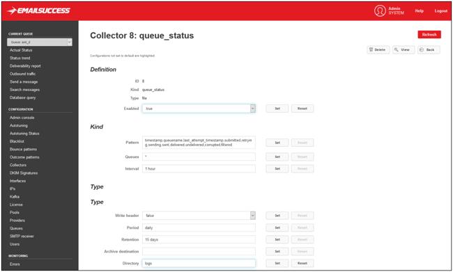 emailsuccess mta email queue status
