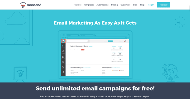 free email marketing software moosend