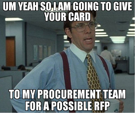 procurement team for a possible RFP