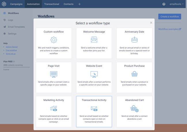 sendinblue automation workflows review